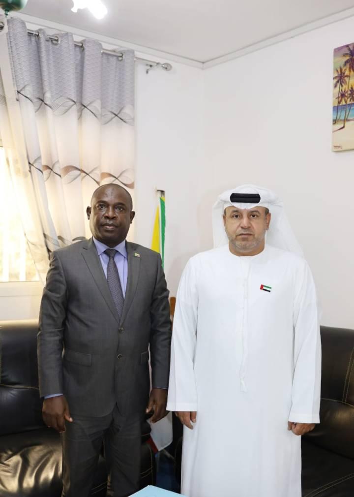 وزير المالية يلتقي بالسفير الإماراتي بجزرالقمر