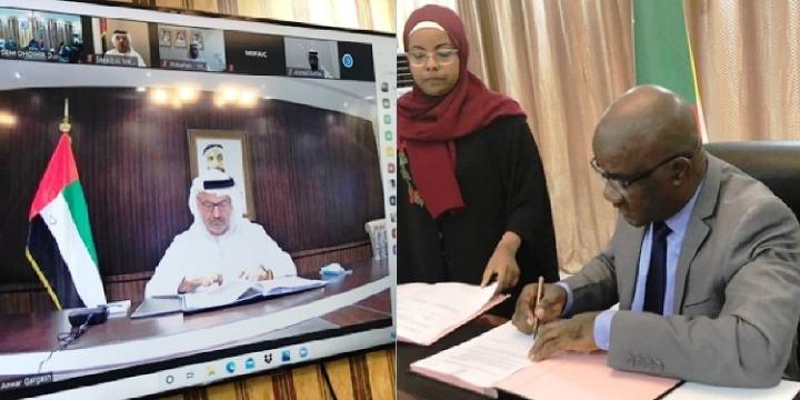 جزر القمر – الإمارات العربية المتحدة: يوقعان مذكرة تفاهم لتعزيز التعاونالثنائي