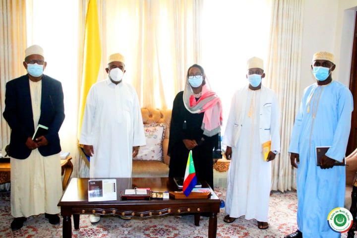 رئيس الجمهورية يستقبل مكتب الغرفة الوطنية للكتاب العدل بجزرالقمر